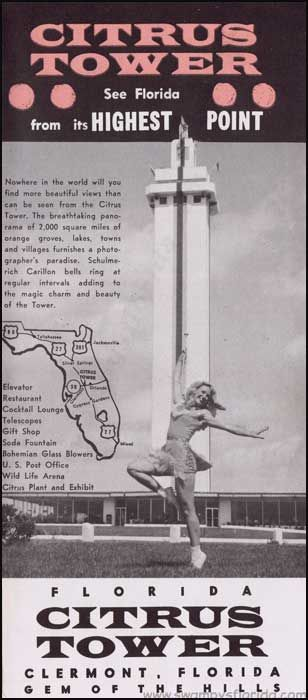 Swampy's #Florida #Tuesday Ads: Citrus Tower, Clermont. The rest of the brochure on the website - http://swampysflorida.com/?p=5677