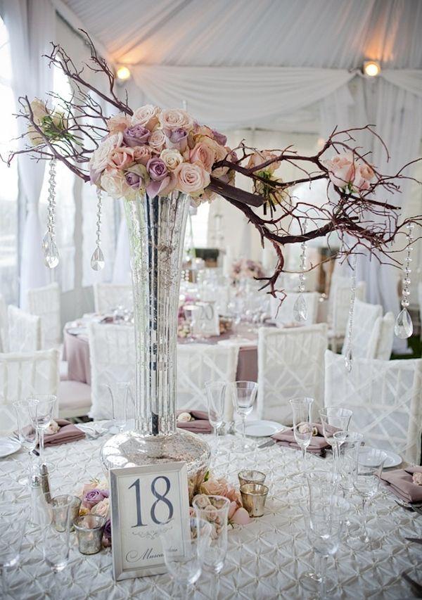 Wedding Centerpiece of the Day: A Unique Branch Style Arrangement