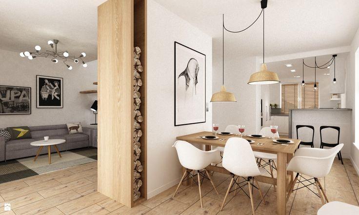 Jadalnia styl Skandynawski - zdjęcie od Grafika i Projekt architektura wnętrz - Jadalnia - Styl Skandynawski - Grafika i Projekt  architektura wnętrz