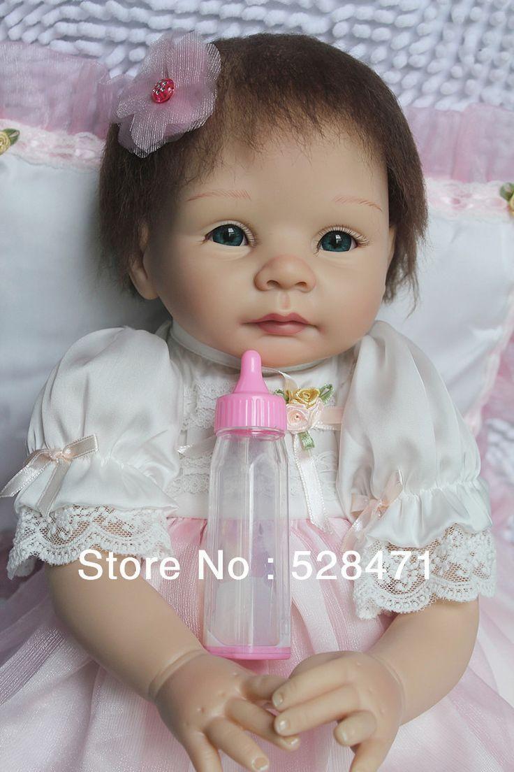 Reborn Baby dolls for girl 55cm / 22 inch Fashion Dolls Silicone Vinyl Reborn Dolls Fnished Lifelike Baby Dolls $109.99