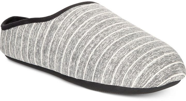 Bar III Men's Modern Clog Striped Slippers, Created for Macy's