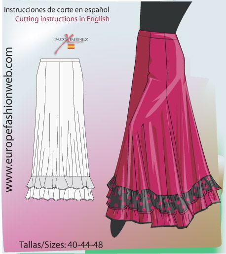 Falda de ensayo roja