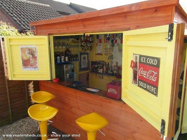 This is a pub shed. | This Is How To Make Your Shed Into Your Own Private Bar
