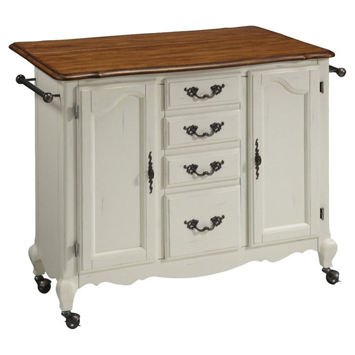 Rolling Kitchen Cart With 2 Cabinets 4 Storage Drawers And A Drop Leaf Breakfast Bar For