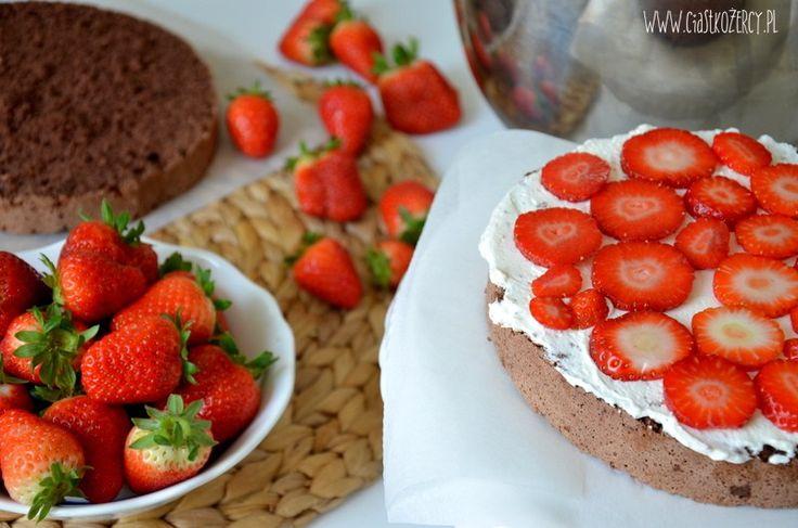 Tort truskawkowo czekoladowy 7