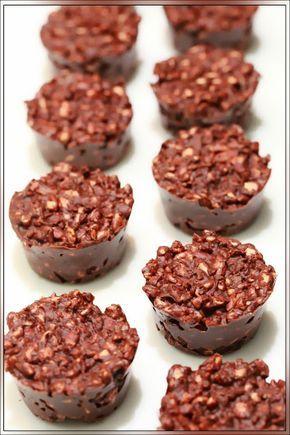 Petites bouchées au chocolat & au riz soufflé