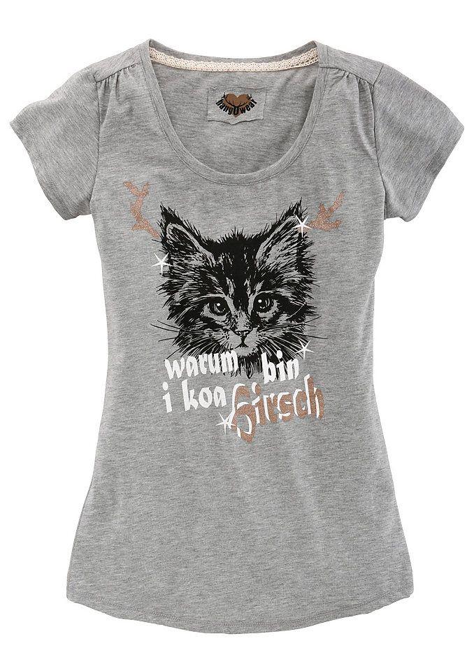 Marjo Trachtenshirt Damen mit Katzenaufdruck im Universal Online Shop
