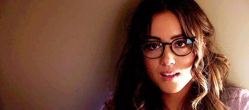 Chloe Bennet, Skye, glasses, gif, sexy,