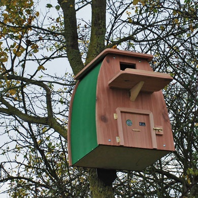 Barn owl box - Nesting box for a barn owl, tawny owl or little owl from FSC Trademark Licence holder Hen and Hammock