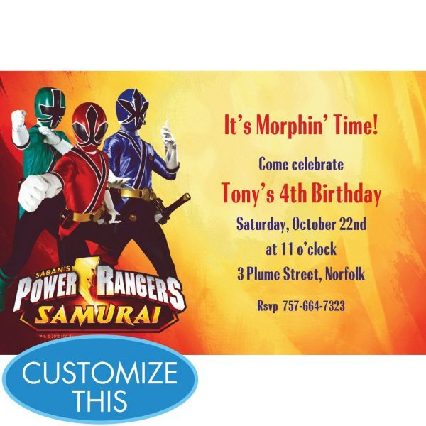 Make Power Rangers Invitations Template Jerusalem House