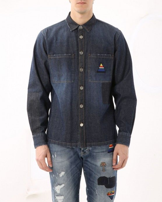 Denim shirt with patches Iceberg