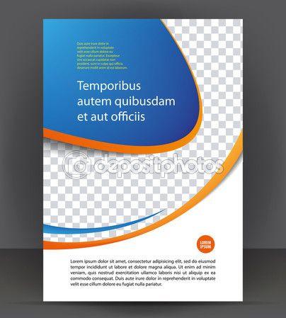 Magazine flyer brochure cover layout design print