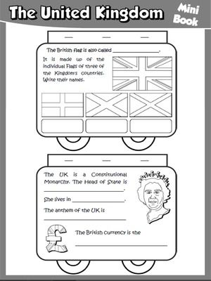 The United Kingdom - Mini Book (B&W version)