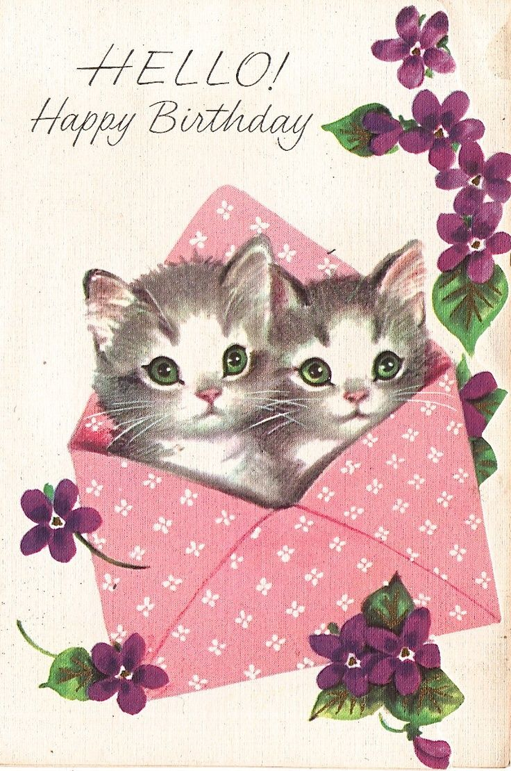 vintage birthday cards - Google zoeken