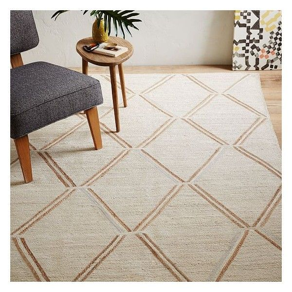 West Elm Affine Metallic Jute Rug, Ivory/Natural, 2'x3' ($40) ❤ liked on Polyvore featuring home, rugs, west elm rugs, weave rug, ivory area rug, hand braided rugs and jute area rugs