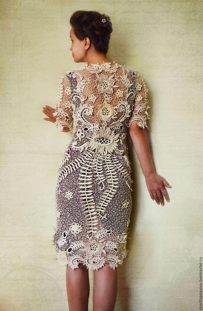 Купить или заказать Платье 'Сказочный лотос' в интернет-магазине на Ярмарке Мастеров. Платье выполнено по индивидуальному заказу, в технике старинного ирландского кружева, вязание на бурдоне. Изящные элементы соединены в строящиеся линии подчёркивающие стройность фигуры, объемный, 3D орнамент и переливы пастельных оттенков, превращают изделие в нежное, сказочно-прекрасное, 'невесомое', 'живое' создание!!!!