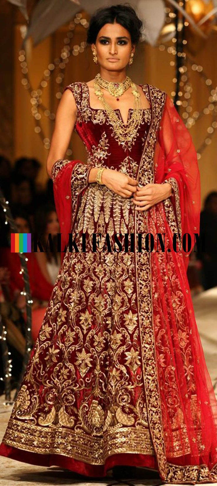http://www.kalkifashion.com/designers/rohit-bal.html Models showcasing Rohit Bal's fabulous bridal and groom collection at Indian Bridal Fashion Week 2013 at Mumbai