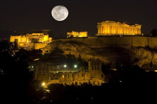 the citadel of the Acropolis in Athens