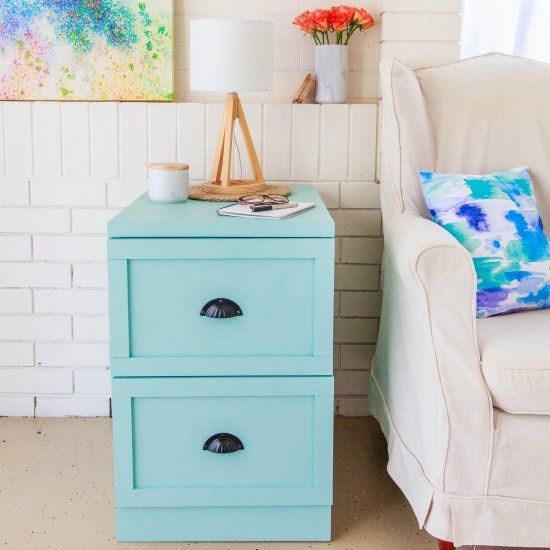 Drab To Fab Filing Cabinet Makeover                                                                                                                                                     More