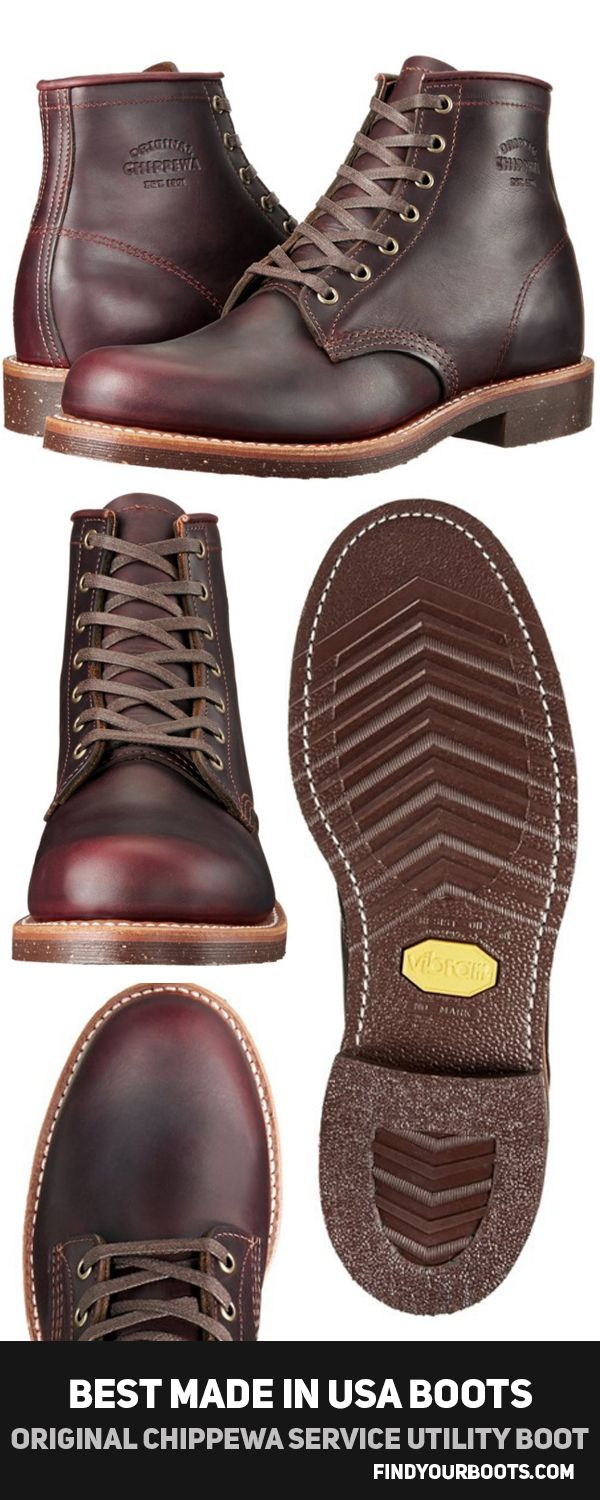 ORIGINAL CHIPPEWA COLLECTION MEN'S 6-INCH SERVICE UTILITY BOOT -