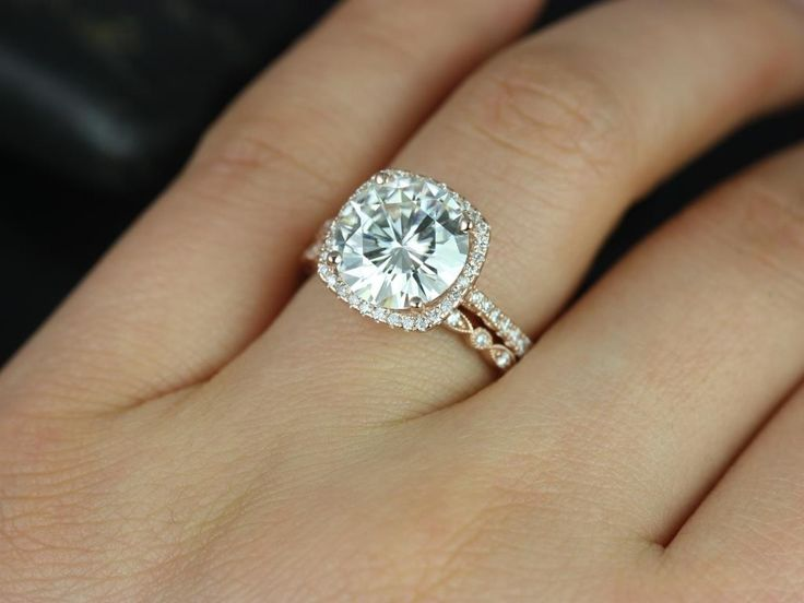 The 25 best cushion cut engagement ideas on pinterest cushion lovely rose gold cushion cut engagement rings 15 halo round diamond with cushion junglespirit Gallery