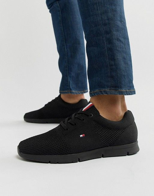30ea9ffe39ee Tommy Hilfiger tobias knit sneaker in black