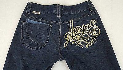 Akademiks Womens Jeans Denum Size 30 Blue Style No N45P50R