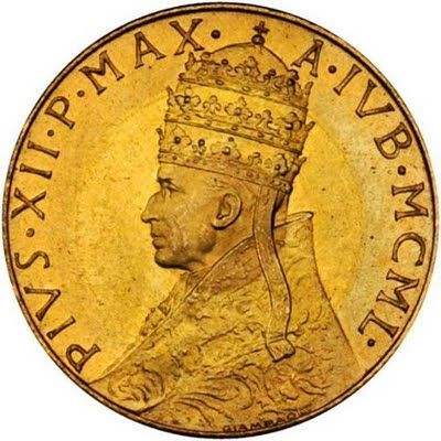investing in gold coins buy sell Vatican Gold coin 100 Lire