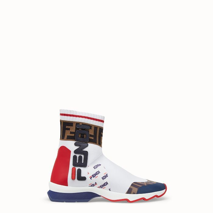 Fendi Multicolor Fabric Sneaker Boots