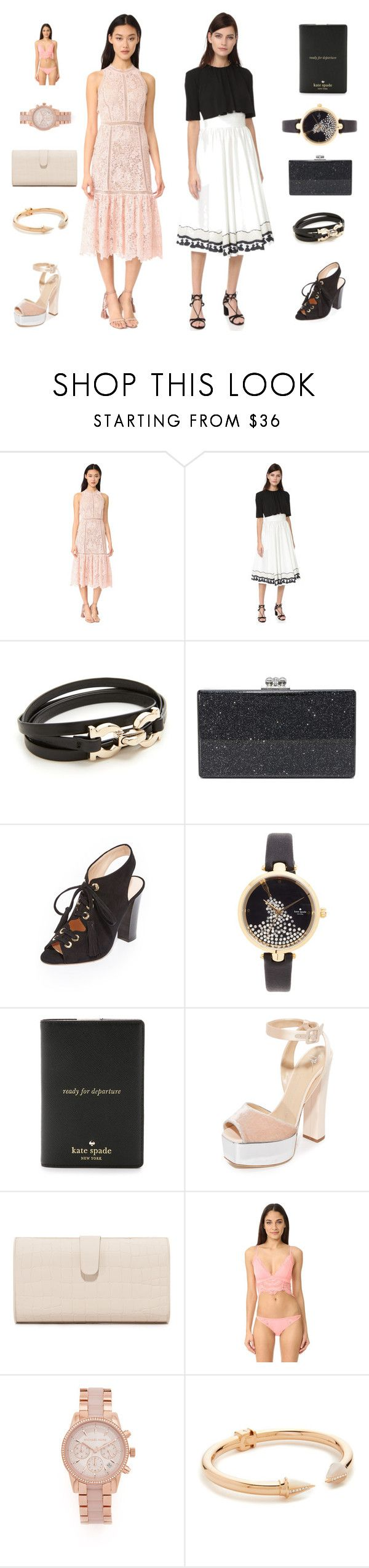 """""""Two types of fashion sale"""" by camry-brynn ❤ liked on Polyvore featuring Rebecca Taylor, Rossella Jardini, Salvatore Ferragamo, Edie Parker, Club Monaco, Kate Spade, Giuseppe Zanotti, Honeydew Intimates, Michael Kors and Vita Fede"""