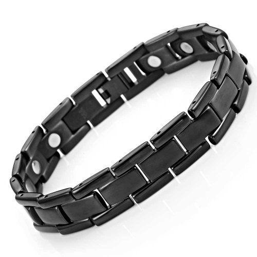 Elegant Mens Black Bracelet 316L Stainless Steel with Titanium Elements, Magnetic Therapy Urban Jewelry http://www.amazon.com/dp/B00J22L44S/ref=cm_sw_r_pi_dp_e.Cuwb1XK19D1