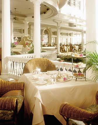 high tea Moana Surfrider Hotel in Waikiki. Oahu island, Hawaii