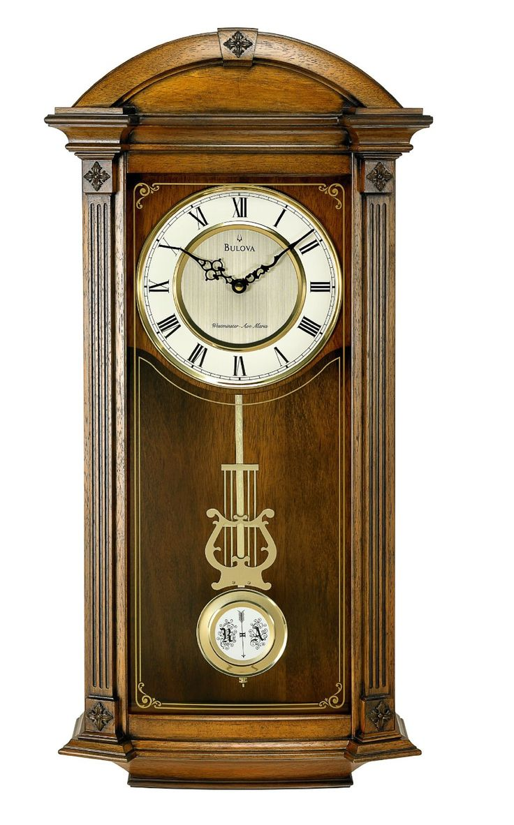 81 best antique clocks images on pinterest antique clocks hartwick wall clock features triple chime movement pendulum and traditional design bulova model free ground shipping every day amipublicfo Choice Image