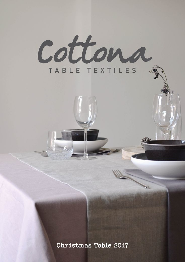 Cottona table textiles | Christmas table magazine 2017 | This magazine gives you inspiration for your personal Christmas table decorations | cottona.com
