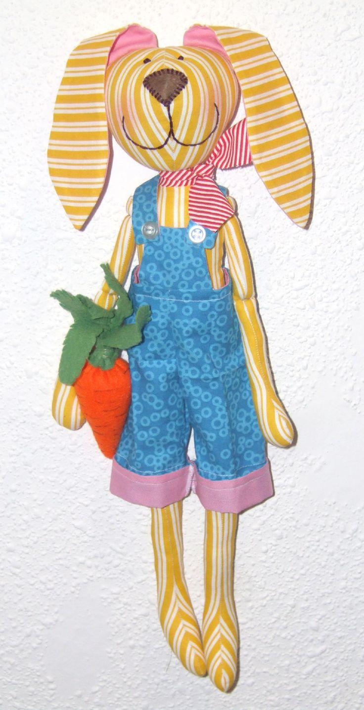 Pan Zajíc / Mr. Hare  Textilní hračka / Fabric toy https://www.facebook.com/JezikuzeHandmade?ref=hl http://jezikuze-handmade.blogspot.cz