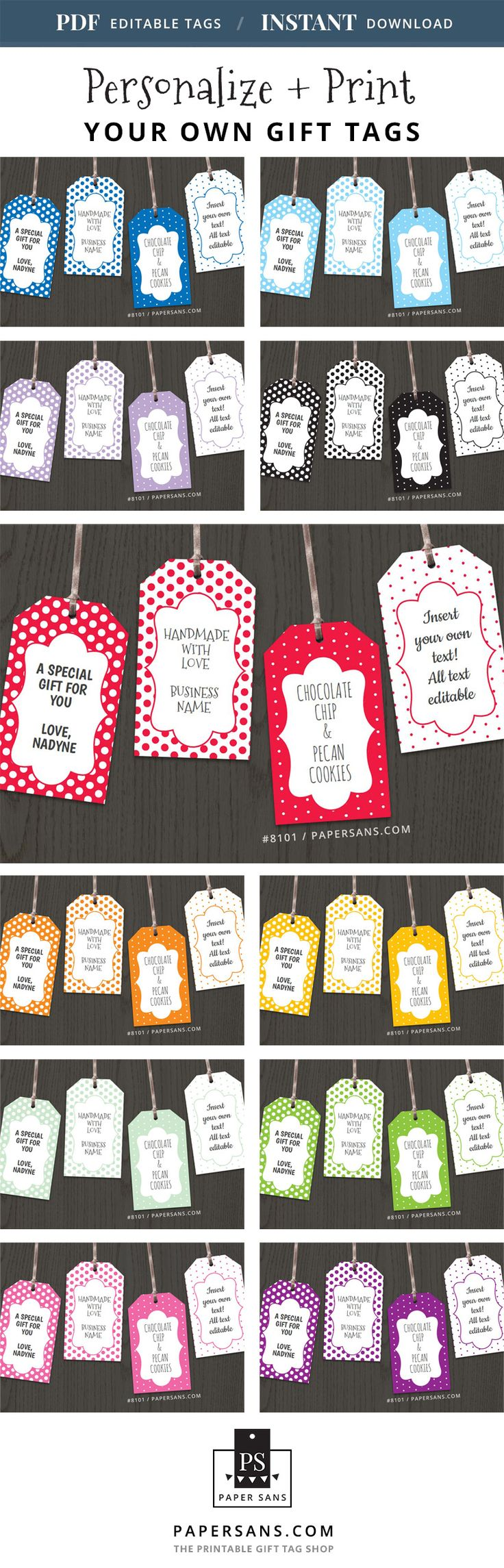 Editable gift tags you can personalize and print at home