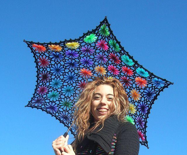 Lacy Daisy Crochet Parasol.. how beautiful!?