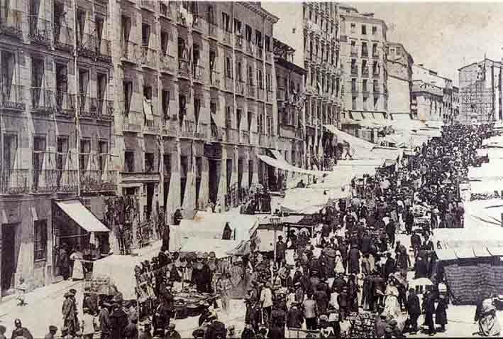 Foto antigua Plaza de Cascorro MADRID