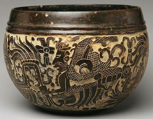 Vasija ceramica,artesania Maya