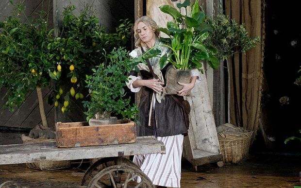 A Little Chaos, a gardening film. Starring Alan Rickman and Kate Winslet A Little Chaos (2014) #CostumeDesign Joan Bergin