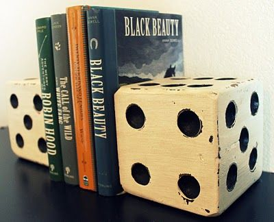 Very cool oversized dice bookends! #bookends