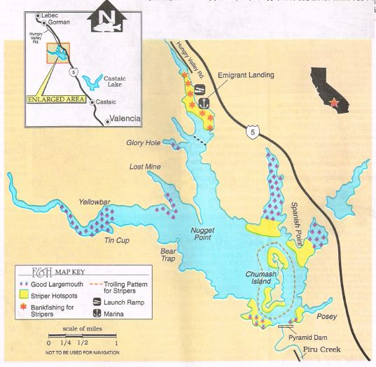 2017 pyramid lake fishing map and report how to fish this for Silverwood lake fishing report