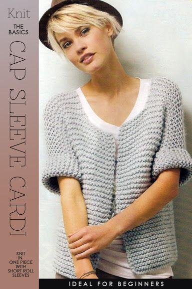 Free pattern - looks pretty easy - Knit The Basics - Cap Sleeve Cardigan