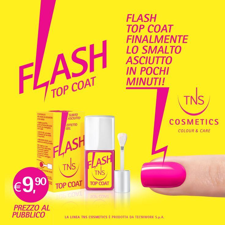 Flash Top Coat: dopo smalto ad asciugatura ultra veloce...  mai più senza!