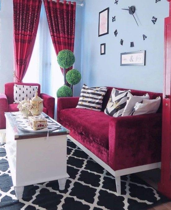 25 ide inspiratif interior ruang tamu minimalis rumah type ...