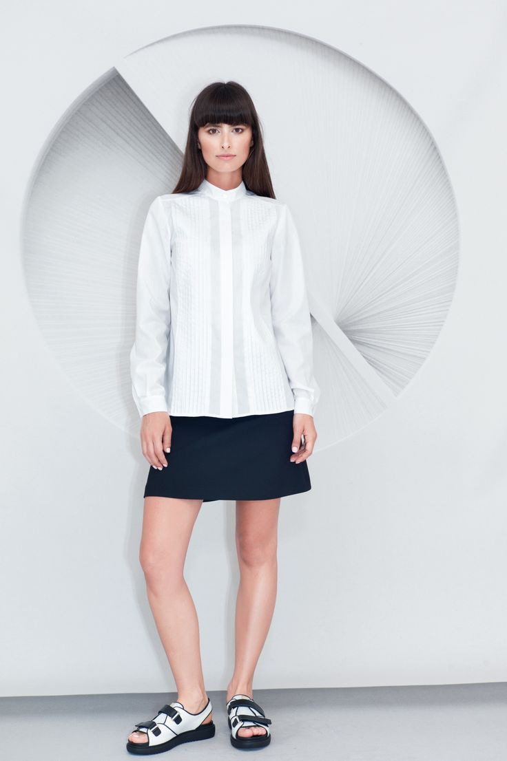Cotton Pleated Shirt