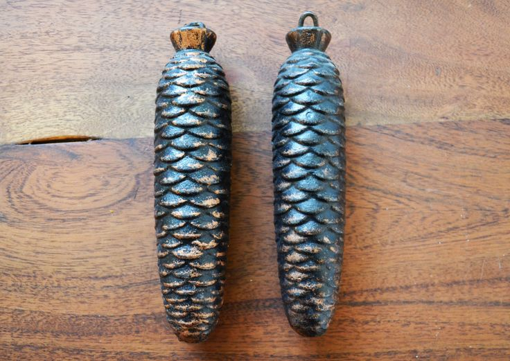 Set of 2 West Germany Cuckoo Clock Pine Cone Weights - Repair Parts, 3 lbs each, Bavarian Black forest by Trashtiques on Etsy https://www.etsy.com/ca/listing/478050389/set-of-2-west-germany-cuckoo-clock-pine