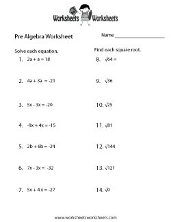 algebra worksheets worksheets and algebra on pinterest. Black Bedroom Furniture Sets. Home Design Ideas