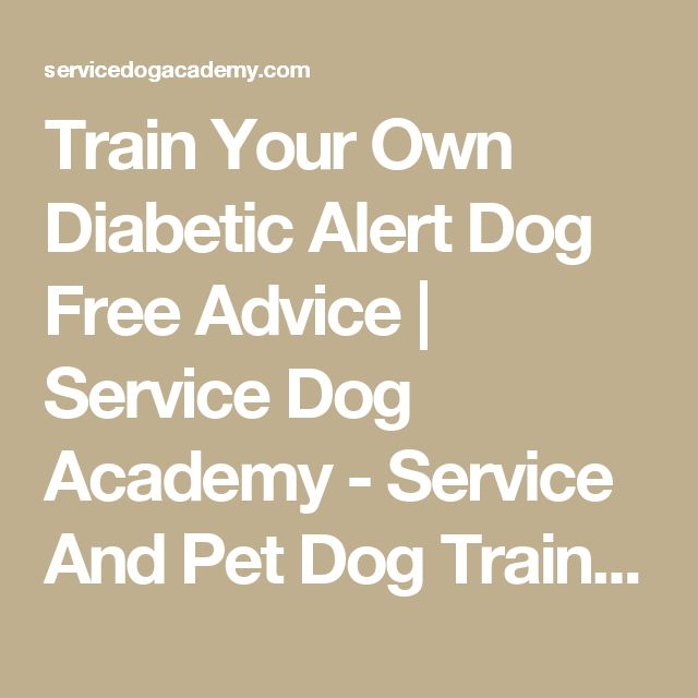 Train Your Own Diabetic Alert Dog Free Advice | Service Dog Academy - Service And Pet Dog Training - St. Louis Missouri, Waterloo Illinois 62298 - (206) 355-9033