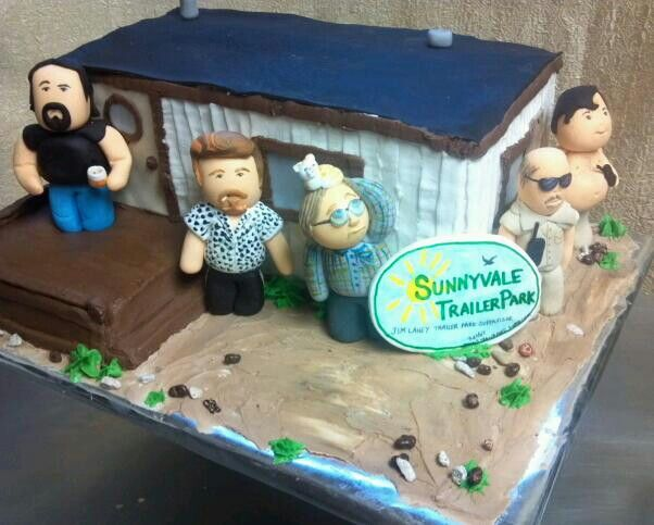 Trailer Park Boys Cake Mobile Home Is Handmade Characters From Fondant